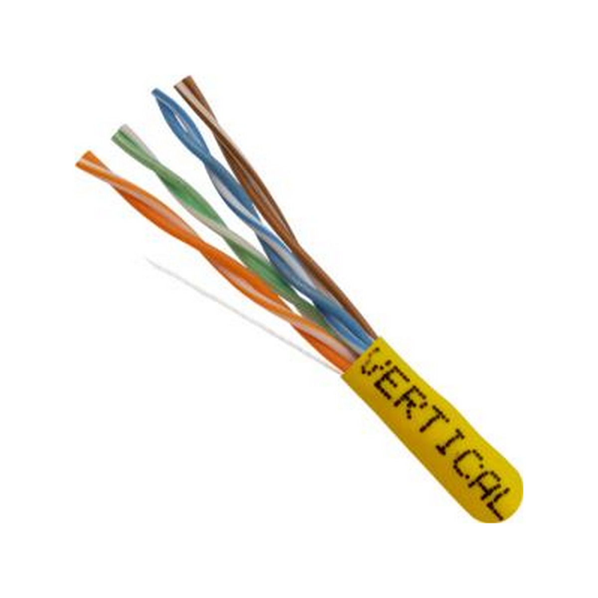 CAT5E, UTP, 1000FT, Yellow PVC, 24AWG, Pull box, CMR