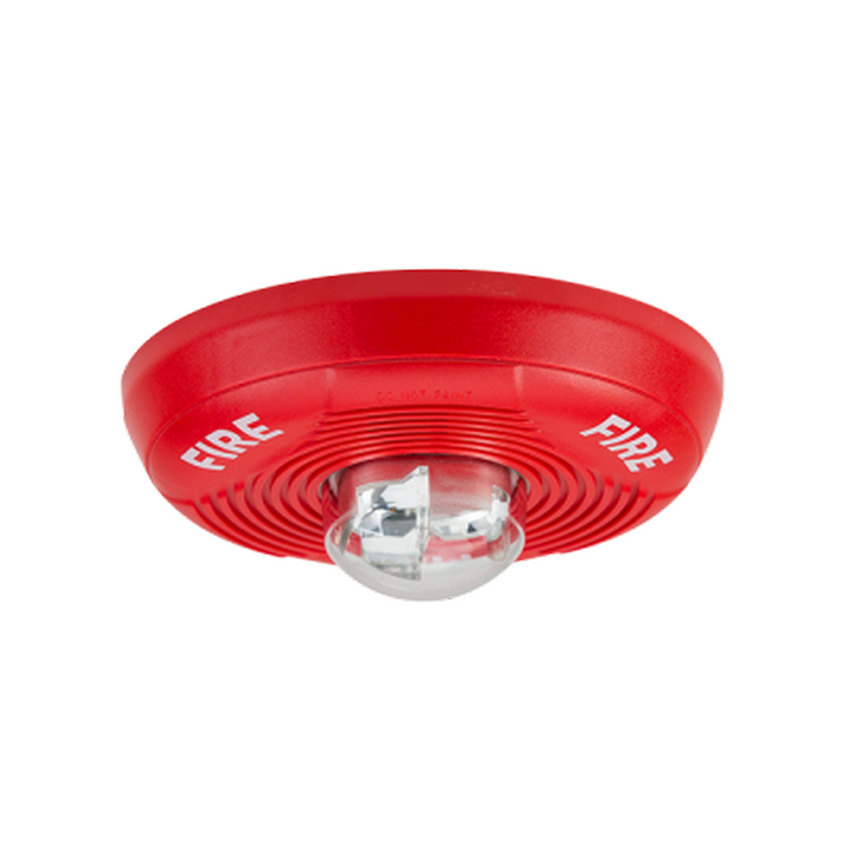 2 Wire ceiling mount horn strobe red, 12/24v