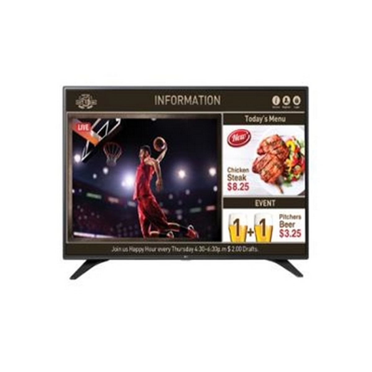 LG SuperSign 49LW540S-Full HD 1920 x 1080 Native Resolution