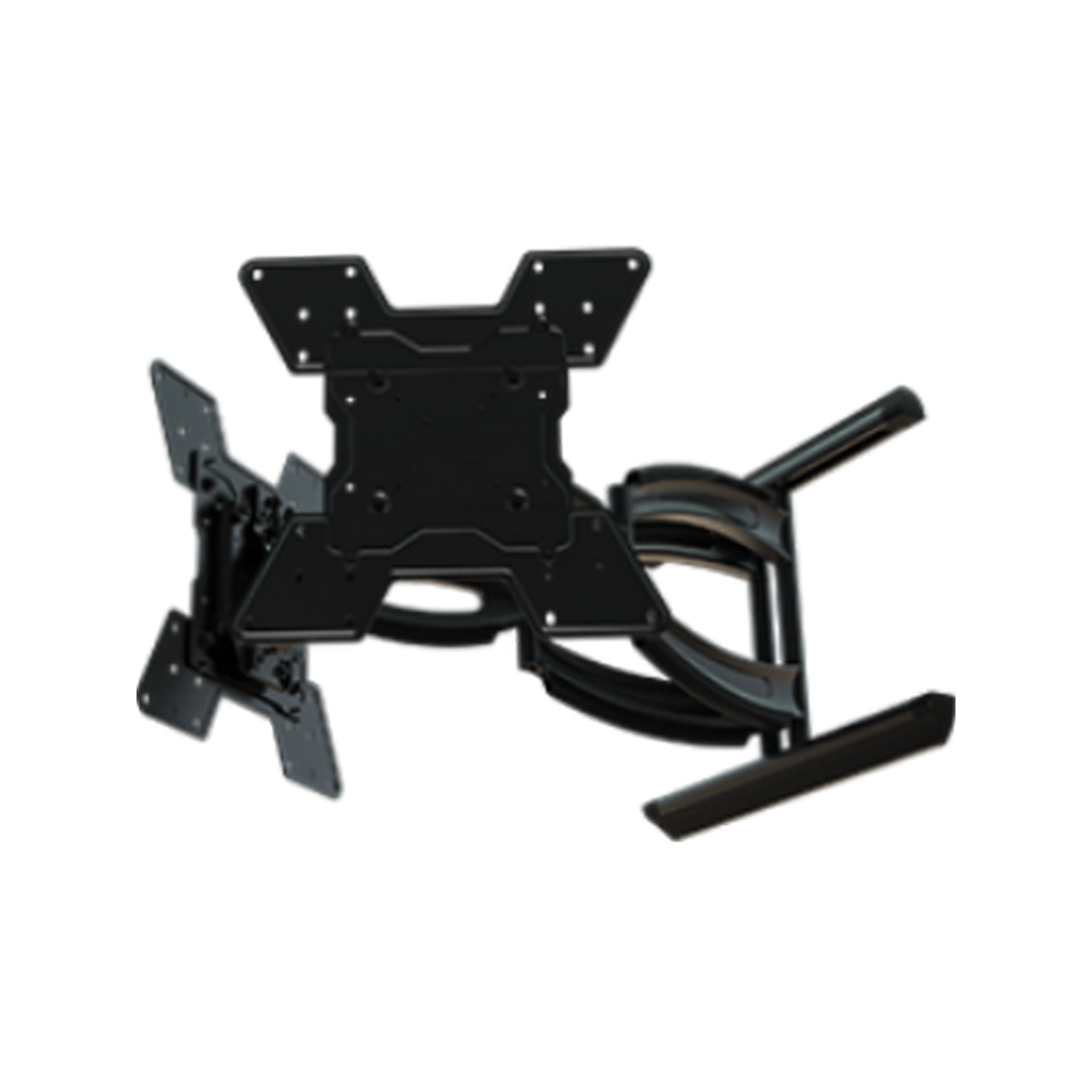Crimson AH55VLP Hydra digital display dual monitor wall mount with on the fly landscape to portrait rotation.