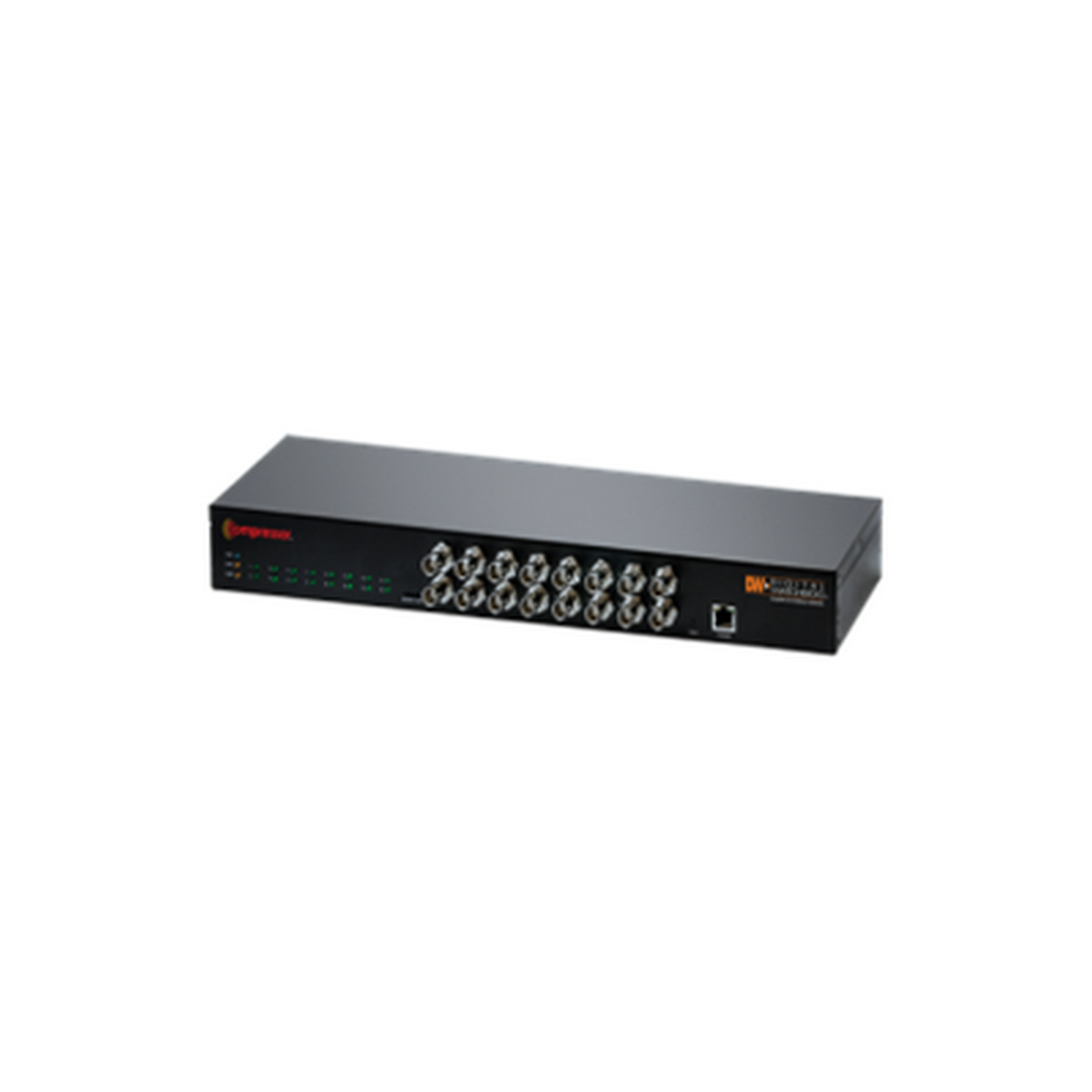 DW-CP16 DIGITAL WATCHDOG  Compressor™ 16-Channel IP Signal Encoder ,converts up to 16 analog cameras into IP streams with real-time viewing and recording at 960H and D1 resolutions.