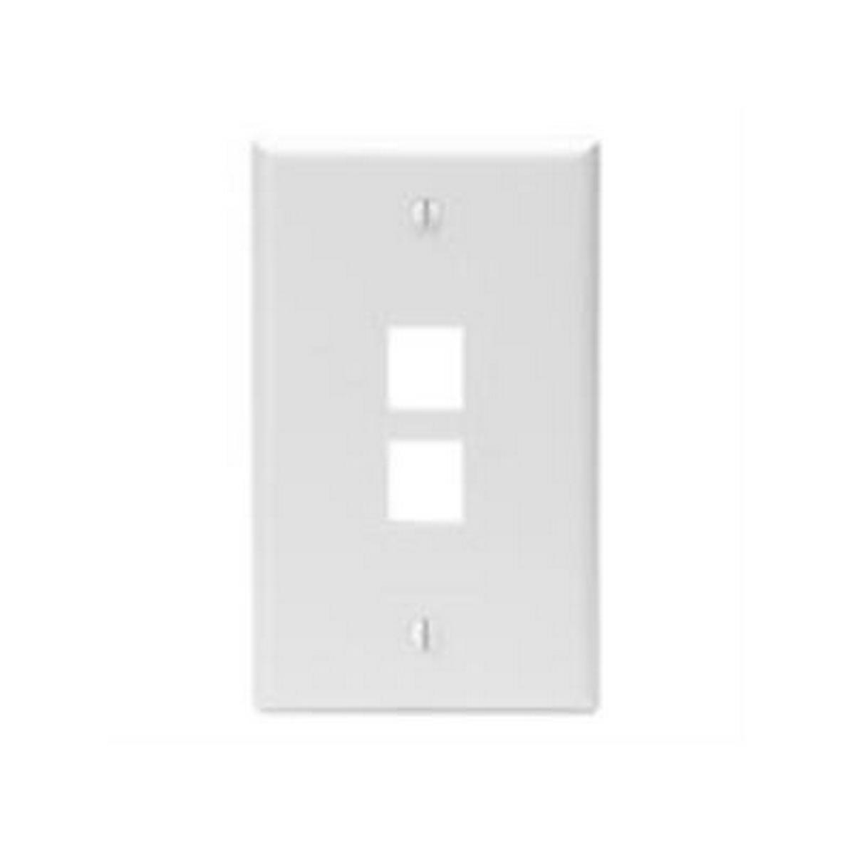 2-port, 1 gang, QuickPort Wallplate, single gang, , white