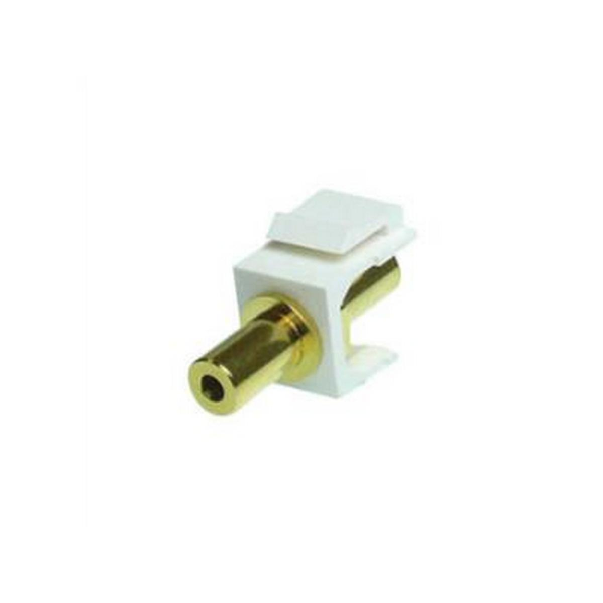 NTW 3KY-FF/3.5-WHT 3.5mm Stereo Audio Keystone Coupler