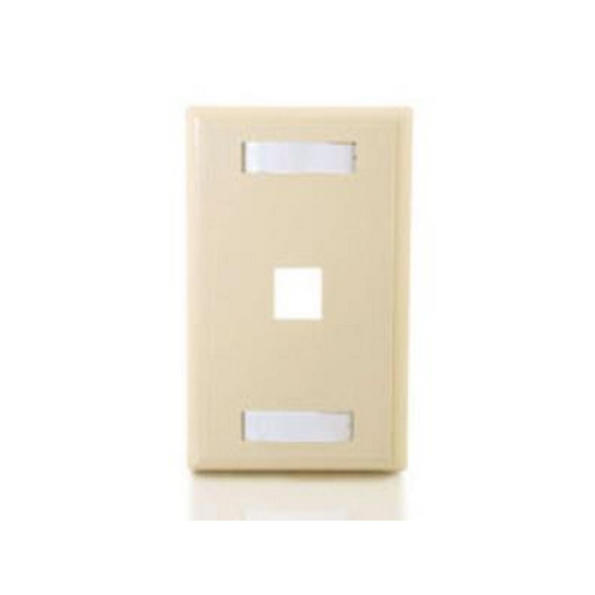 1 Port keystone 1 gang Wall plate Ivory