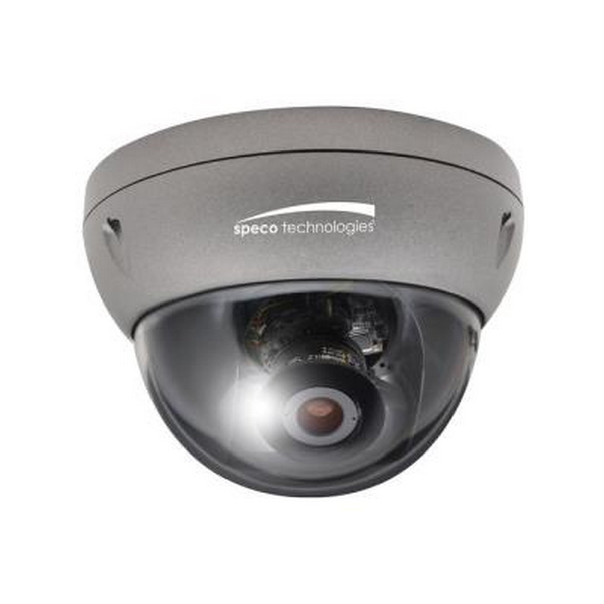 Speco Intensifier HD Indoor/Outdoor Dome IP Camera, 3.6-16mm VF lens, dark grey