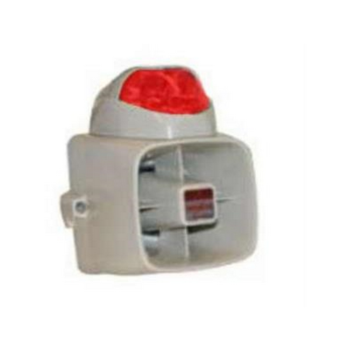 Armored self contained indoor/outdoor siren w/ red strobe