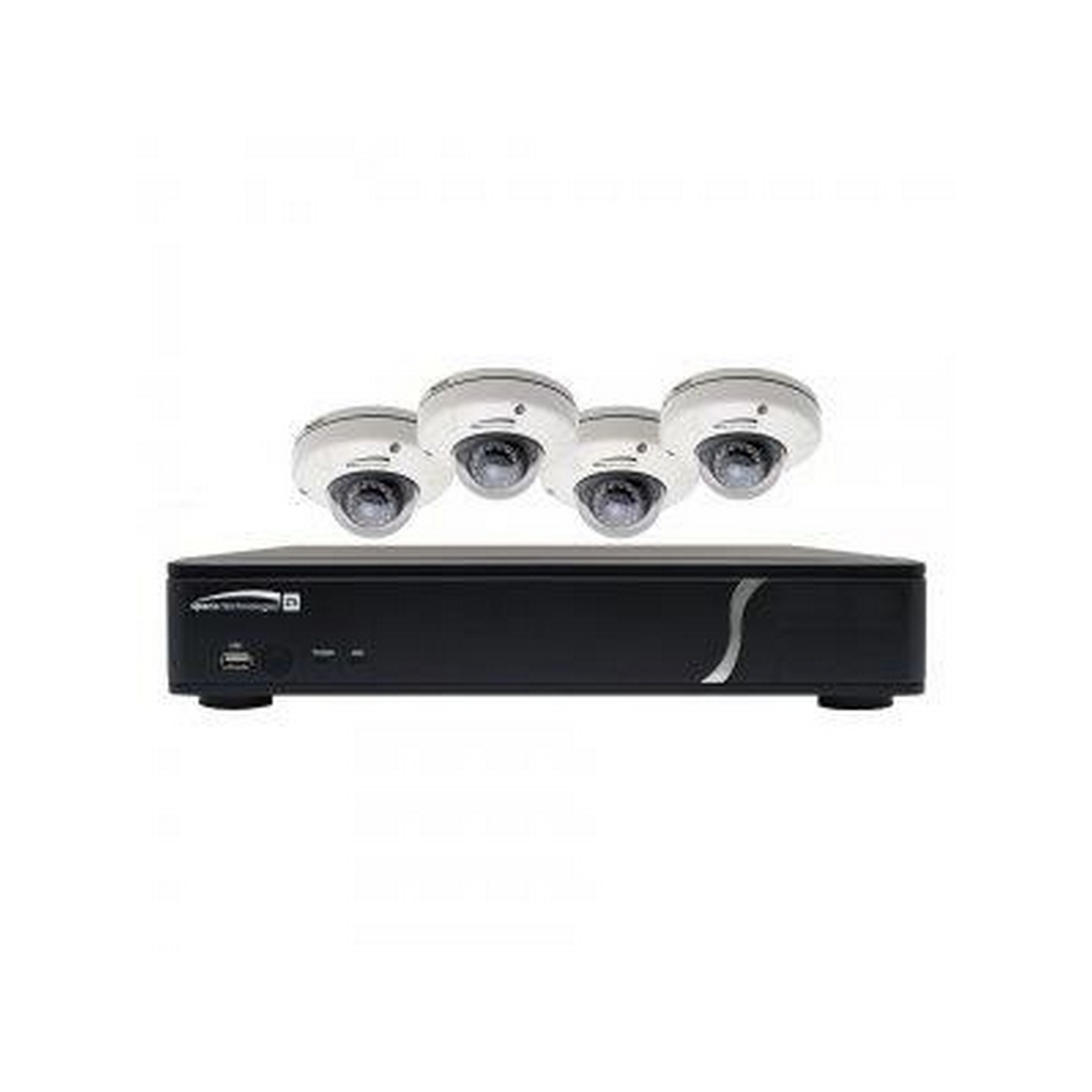 Speco ZIPKIT4D1 4 Channel NVR with 4 Channel Built-In PoE,