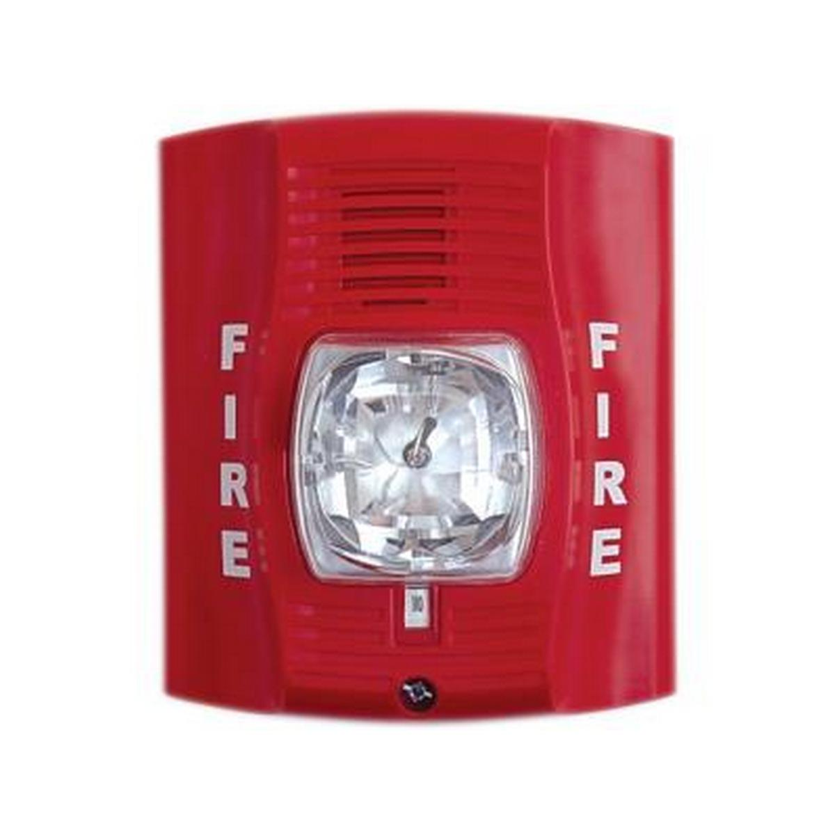 System Sensor P4R   4 Wire horn strobe wall mount red