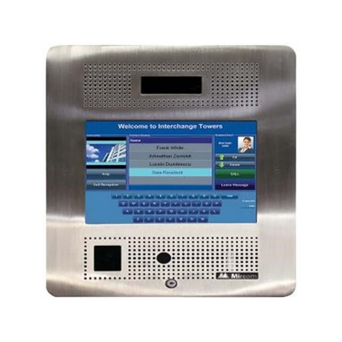 Mircom TX3 Flush Mount Touchscreen Telephone Access System - up to 2000 names, 8GB Flash Memory