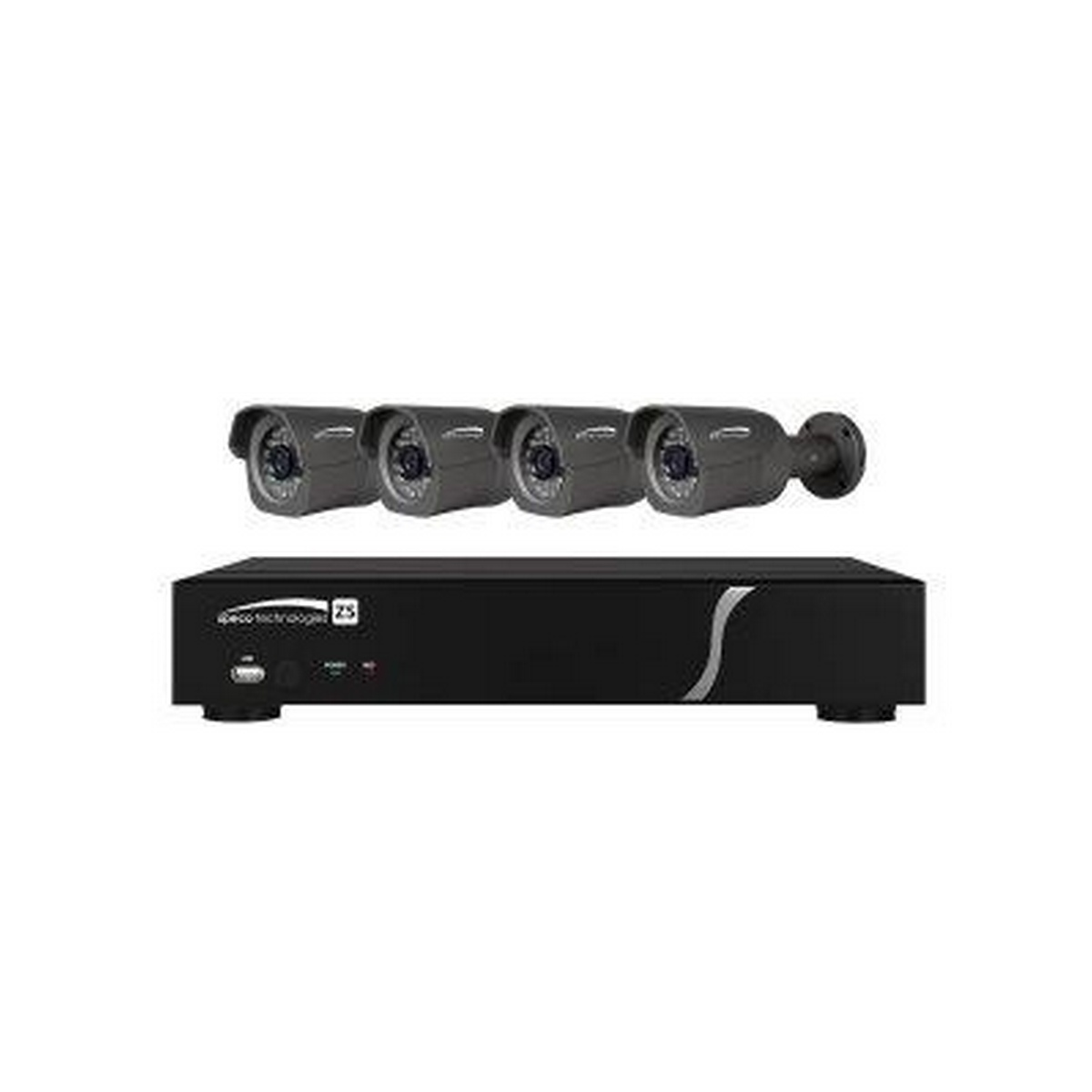 8 CH Plug-and-Play NVR 1080p, 240FPS, 2TB w/4 Outdoor IR Bullet 3.7mm lens