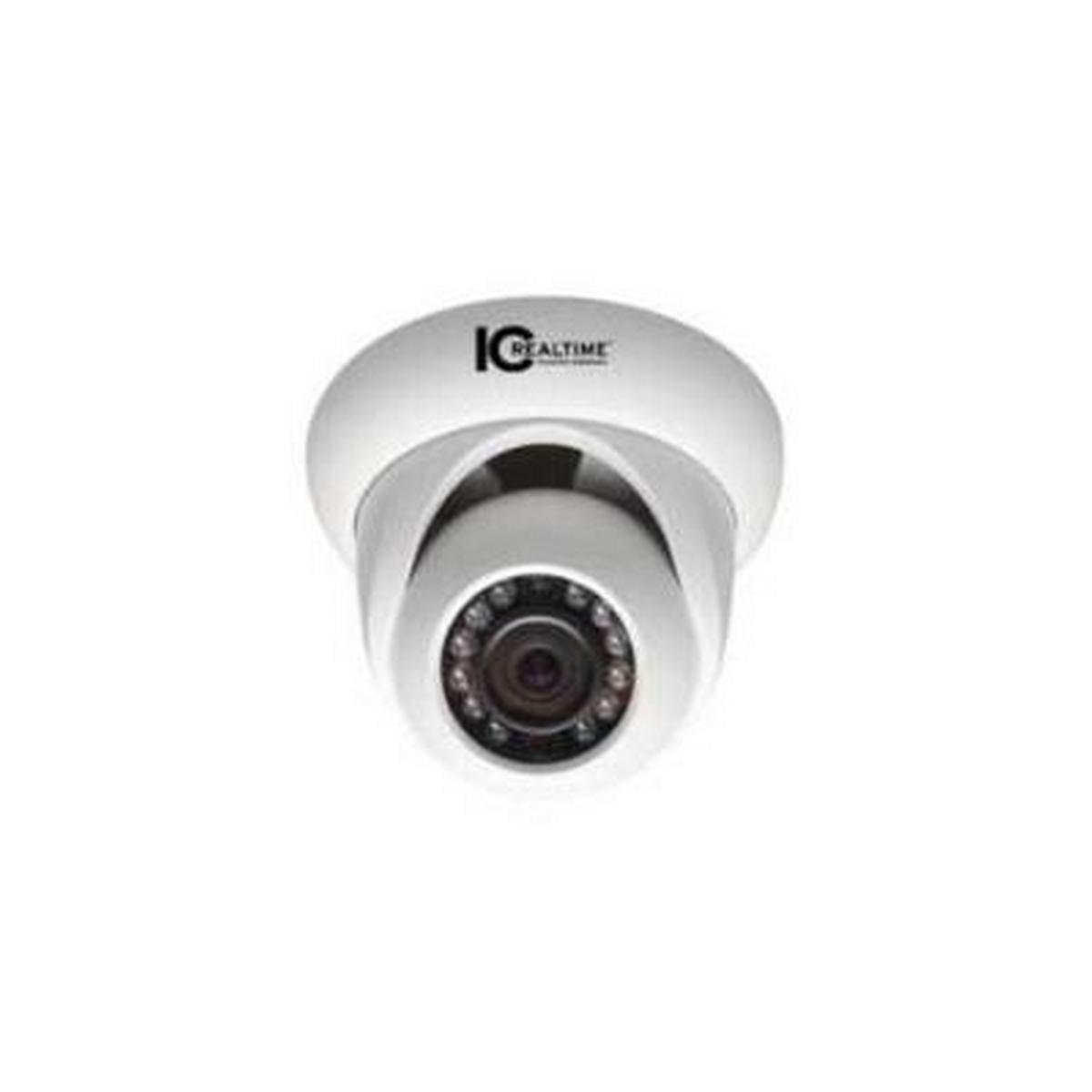 INDOOR/OUTDOOR MEGAPIXEL IP 50' IR DOME, 1.3 MEGAPIXEL, 720P AT 30 FPS, UP TO 1.3MP WITH H.264E COMPRESSION, 3.6MM LENS, 12VDC OR POE 802.3AF - NO POWER SUPPLY INCLUDED