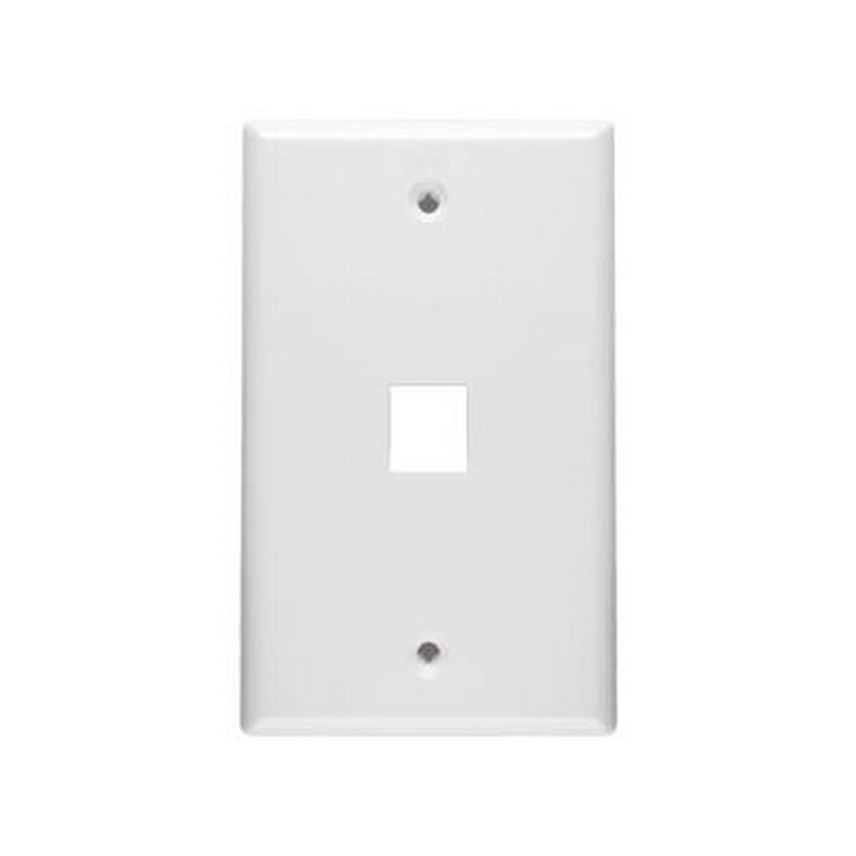 1 Port keystone 1 gang Wall plate White