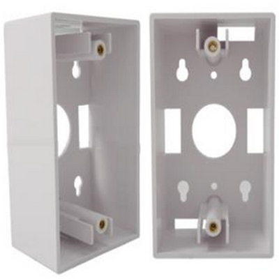 Single gang junction box, White