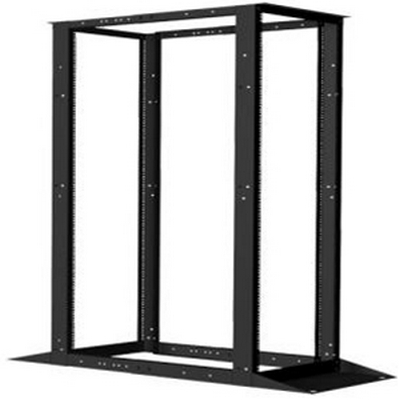 Vertical cable 45U 4 POST OPEN RACK (STEEL),  ADJUSTABLE TO 36
