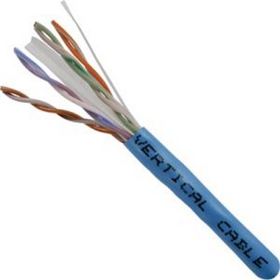 CAT 6 UTP, 1000FT, Blue PVC Pull box, CMR Rated