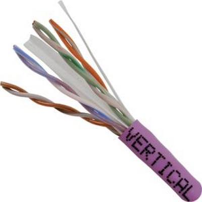 CAT 6 UTP, 1000FT, Purple PVC Pull box, CMR Rated