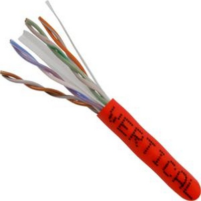 CAT 6 UTP, 1000FT, Red PVC Pull box, CMR Rated