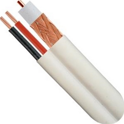 Vertical Cable 107-2322WH RG59/18-2 Siamese 1000' White CCA