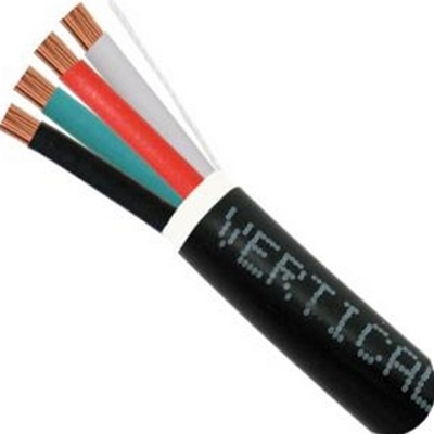 Vertical 14/4 AUDIO CABLE DIRECT BURIAL 500FT BLACK