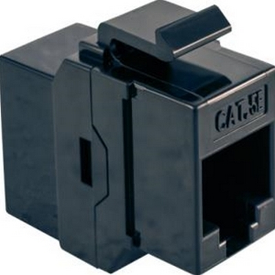 Vertical 301-KCH/BK  Cat5e Keystone Coupler Jack, Black