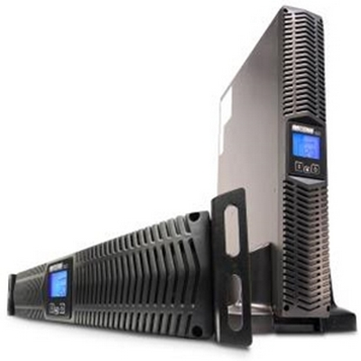 EnterprisePlus LCD® Line Interactive Uninterruptible Power Supply, 750VA, Rack/wall/tower UPS w/ 8 Outlets