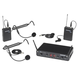 Samson Concert 288 Dual Channel Wireless (I Band) Presentation System with (2) LM5 Lavalier and (2) HS5 Headset Microphones (CB288 x 2/CR288) - H Band Band: 518-566 MHz