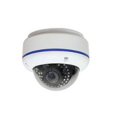 INDOOR/OUTDOOR VANDAL WHITE IR DOME, 1/3 SONY SUPER HAD, 6000TV LINES, SSNRIII, WDR, 2.8-12MM LENS, 65FT IR, 12VDC/24VAC - NO POWER SUPPLY INCLUDED