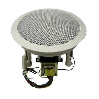 MGE 610CXBT/WG 6.5'' Coaxial speaker. 70/25 Volt Transformer. White high style grill.     8 ohms. Taps at .63/2.5/5/10 watts. 94db (1w/1m) Size: 9'' x 3¾.