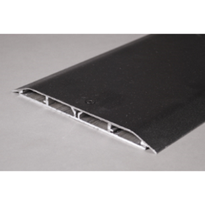 LeGrand Overfloor raceway base and cover - black pwder-coated aluminum, 8 ft length, 4 channels