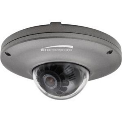 Speco Intensifier HD Indoor/Outdoor Mini  Dome IP Camera, 3.7mm lens, dark grey