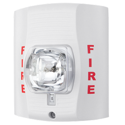 Wall mount strobe, white