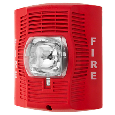 System Sensor SP-SR  Wall mount speaker strobe, multi candela, red