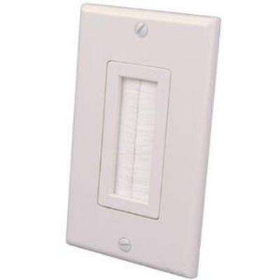 Vanco 120815X 1-Gang Decora-Style Brush Bulk Cable Wallplate - Almond