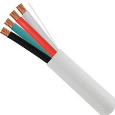 Vertical Cable 209-2326 14/4 105 Strand Speaker Cable 14 AWG 4 Conductor 500' Pull Box White CMR CL3