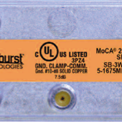 Wi3 Wi3-3WMS MoCA Splitter, 3 Way Ghz RF Splitter - Horizontal - CATV