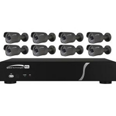 8 Channel IP Zip Kit with 8 Bullets, 2T HD