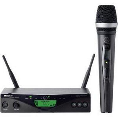 AKG WMS470 D5 SET BD7 50mW - Wireless handheld microphone system, SR470 stationary receiver, HT470/D5 handheld transmitter, D5 microphone element, pilot tone, microphone stand, LR6 AA battery, power supply and rack mount unit included.